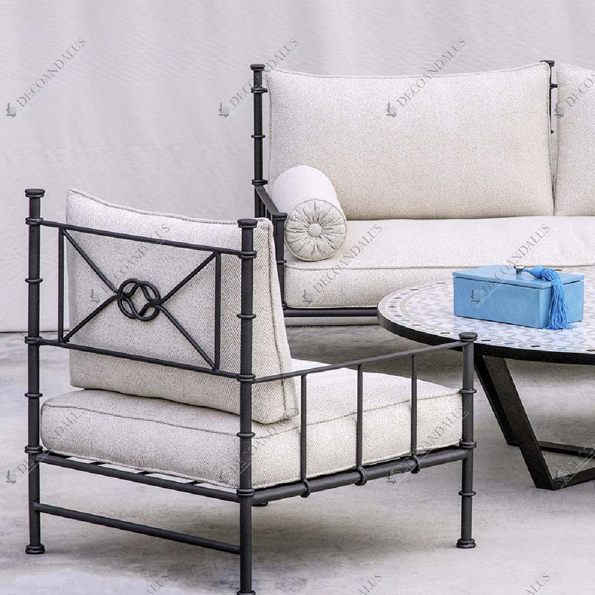 Sof exterior de estilo rabe andalus fabricaci n a for Sofa exterior marbella
