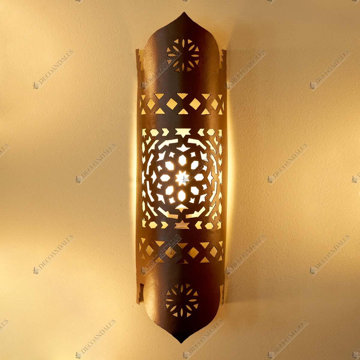 Aplique de pared iluminaci n decoandalus - Apliques arabes ...