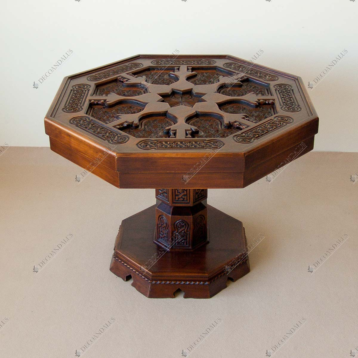 Mesa de comedor de madera maciza muebles decoandalus for Mesas de comedor de madera maciza