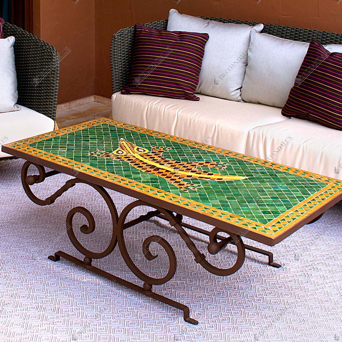 Mesa mosaico mesa centro decoandalus for Mesa mosaico jardin