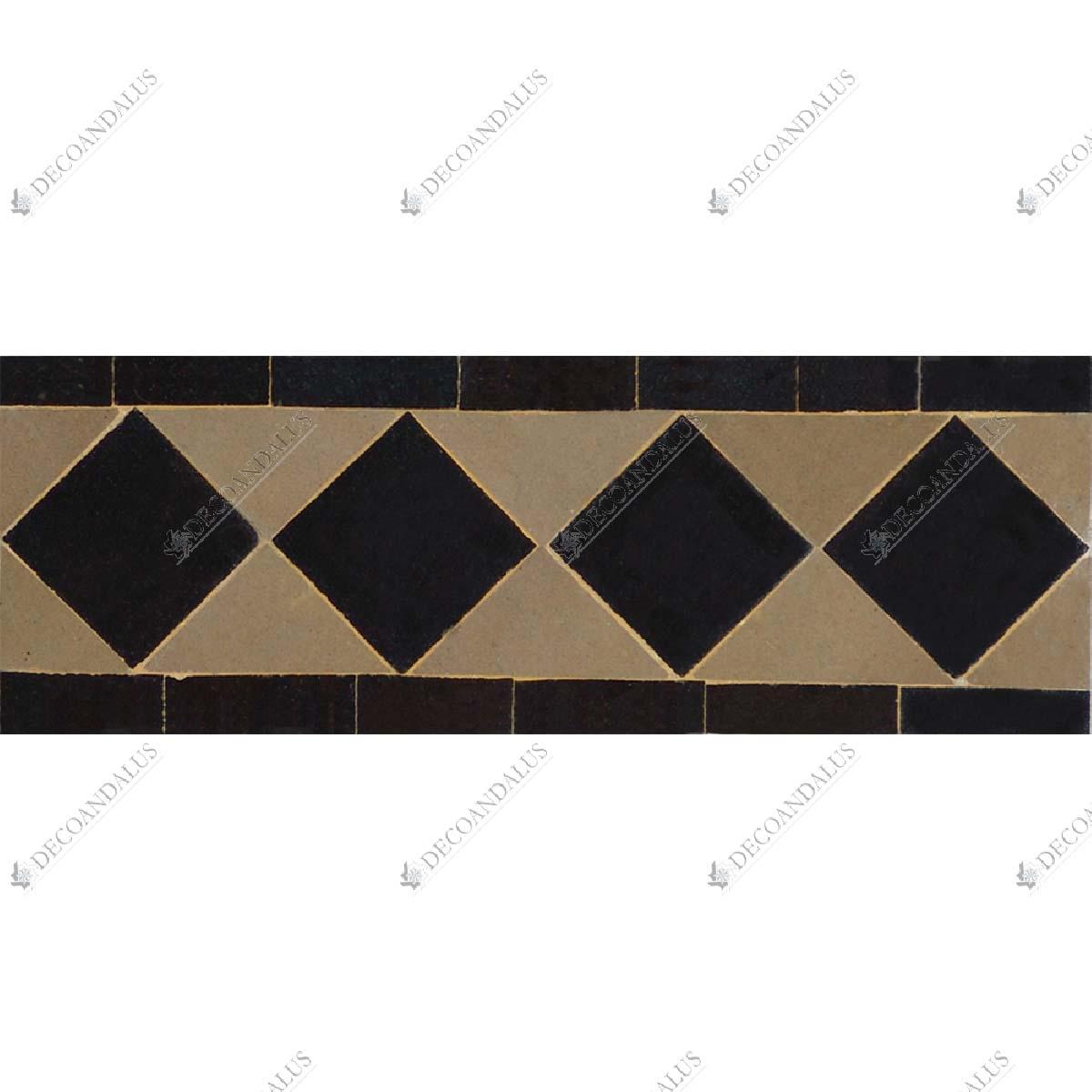 cenefa rabe hecha a mano revestimientos cer micos dise o geom trico. Black Bedroom Furniture Sets. Home Design Ideas