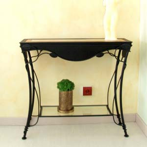 Forged Console Table Wood on Top 6.5