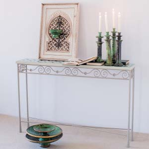 Forged And mosaic Console Table 40-46
