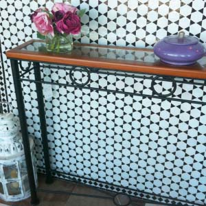 Wrought Iron and Wood Console Table ME.PA.45