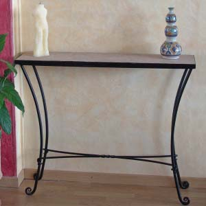 Wrought iron and mosaic Console Table 22-39