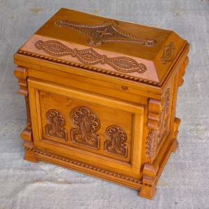 Carved Solid Wood Trunk 07