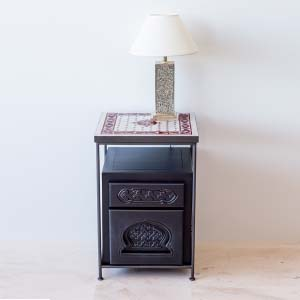 Bedside Table Solid Wood 25