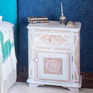 Bedside Table Solid Wood 24