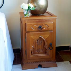 Bedside Table Solid Wood 06