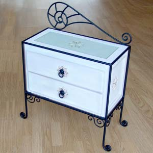 Bedside Table Solid Wood 01