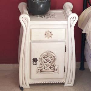 Bedside Table Solid Wood 05