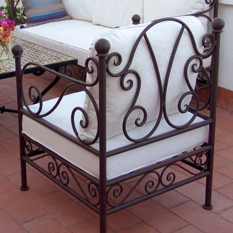 Sill n de forja muebles jard n marbella estepona for Muebles de jardin malaga