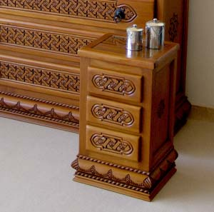 Bedside Table  Solid Wood 04