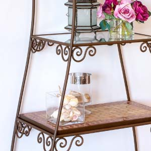Wrought Iron Shelve 02