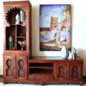 Solid Wood Tv Stand Arabic Style 11