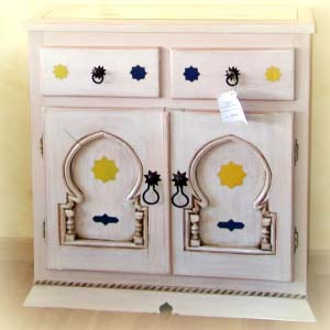 White Solid Wood Sideboard 09
