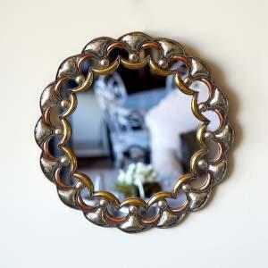 Circular Metal Mirror three metals DE.ES.88