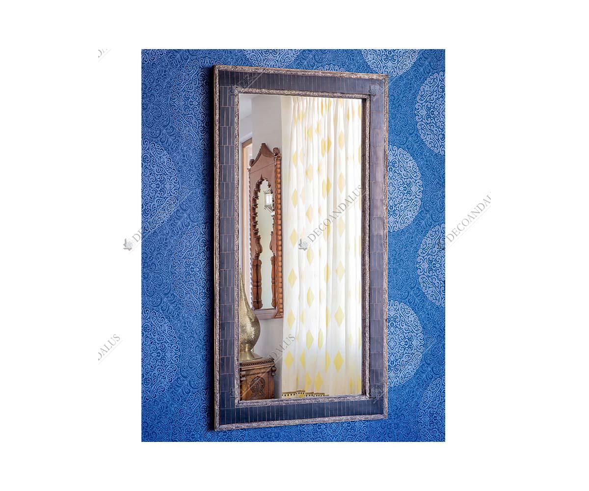 Espejo rectangular de resina y estaño 81