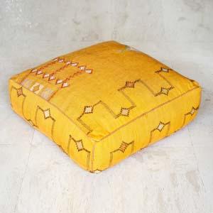 Puff Kilim 24 amarillo