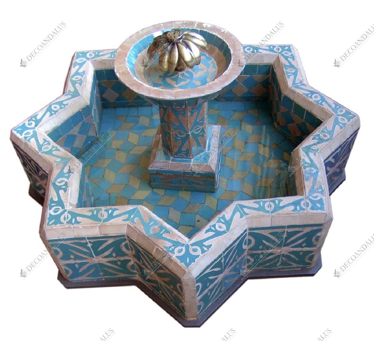 Jardin Arabe: Fuente Mosaico. Fuentes De Jardín. Decoandalus