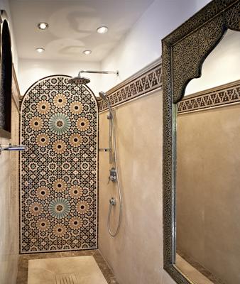 baño mosaico árabe