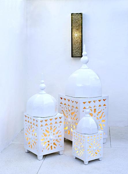 Farol árabe cerámica. Decoandalus