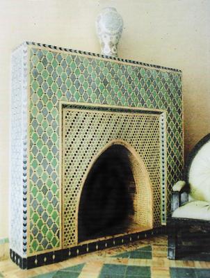 chimenea de mosaico
